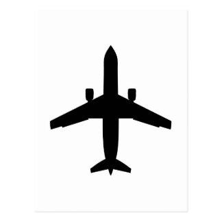 avión del pasajero tarjeta postal