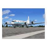 Avión del tiempo de P3 Orión NOAA Tarjeta De Felicitación