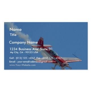 Avión del truco tarjeta de visita