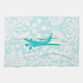 Avión del trullo toalla de cocina