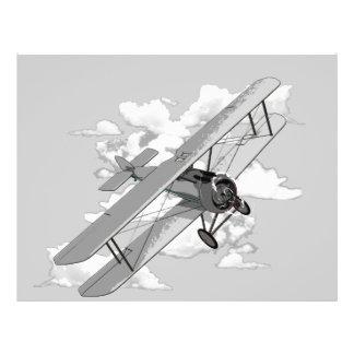Avión del vintage tarjeta publicitaria