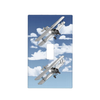 Avión del vintage placas para interruptor