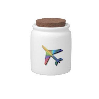 avión digital jarra para caramelo