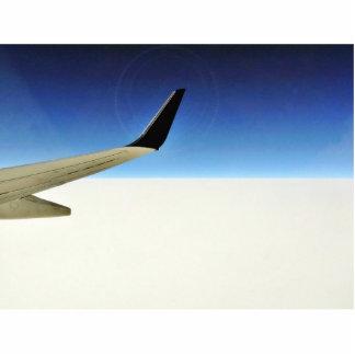 Avión en el cielo fotoescultura vertical