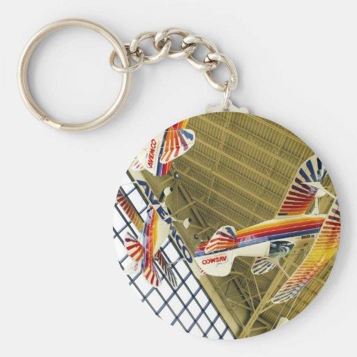 Avión especial de las acrobacias aéreas de Pitts Llavero Redondo Tipo Pin