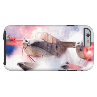 Avión estilizado del combate funda de iPhone 6 tough