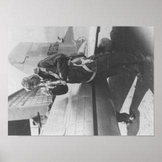Avión experimental del embarque de Howard Hughes p Poster