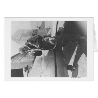 Avión experimental del embarque de Howard Hughes p Tarjeta De Felicitación