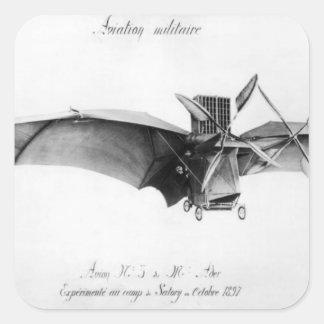 Avion III, 'el Bat Pegatina Cuadrada