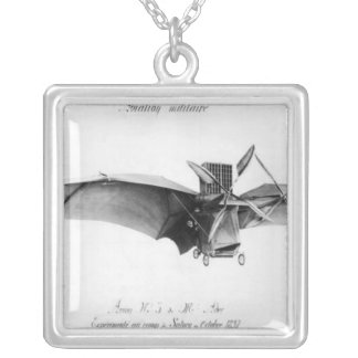Avion III, 'The Bat' Silver Plated Necklace
