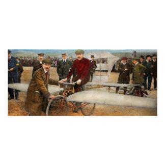Avión - impar - fácil como montar una bici 1912 tarjeta publicitaria a todo color
