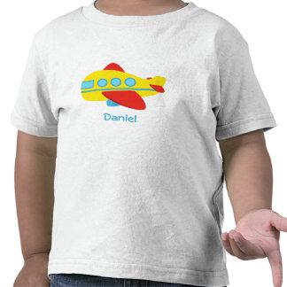 Avión lindo y colorido del pasajero camiseta