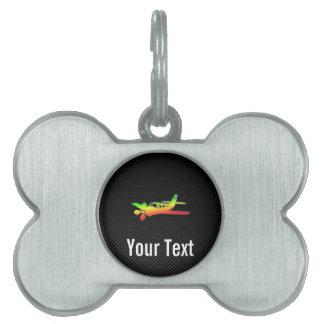 Avión liso placa mascota