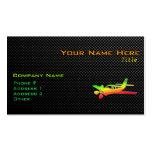 Avión liso plantilla de tarjeta de negocio