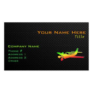 Avión liso tarjetas de visita