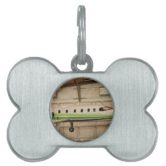 Avión Placa De Mascota