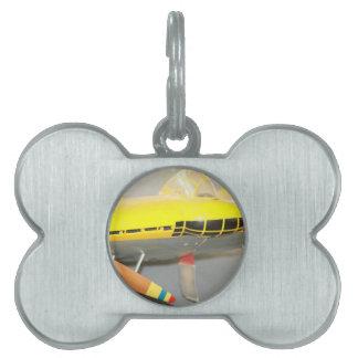 Avión Placas De Mascota
