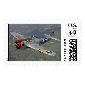 avión p-51 sellos postales