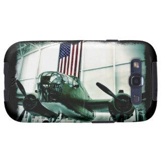 Avión patriótico de los militares WWII con la Galaxy SIII Cobertura