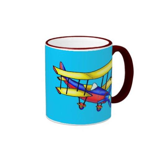 Avión pequeño taza de dos colores