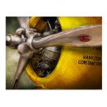 Avión - piloto - apoyo - avispa gemela tarjetas postales