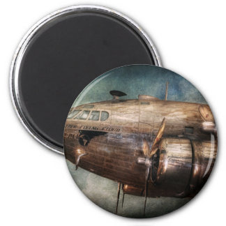 Avión - piloto - la nube del vuelo imanes de nevera