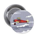 avión pin redondo 5 cm