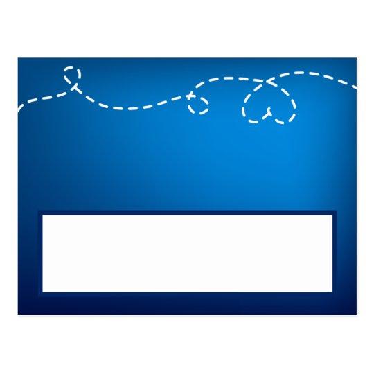 Avión programable del papel de la tarjeta del luga tarjeta postal