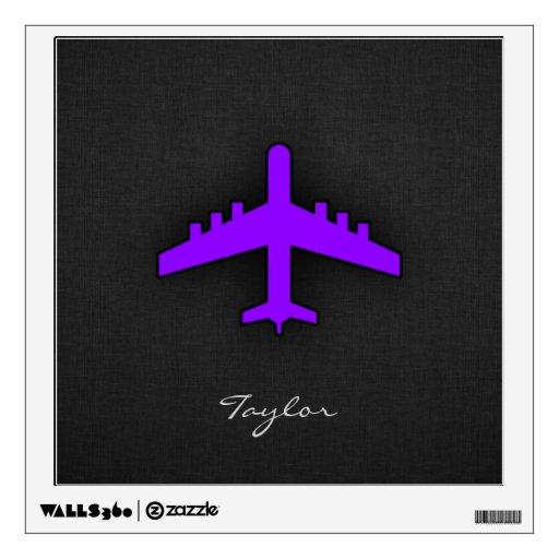 Avión púrpura violeta; Piloto