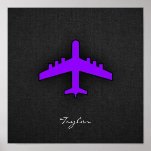 Avión púrpura violeta; Piloto Impresiones