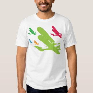 Avión retro del aeroplano del hidroavión de playera