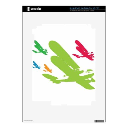 Avión retro del aeroplano del hidroavión de Strato Pegatinas Skins Para iPad 3
