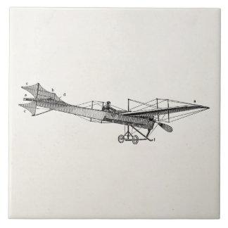 Avión retro del apoyo del aeroplano del propulsor  tejas  cerámicas