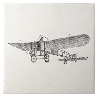 Avión retro del apoyo del aeroplano del propulsor  tejas  ceramicas