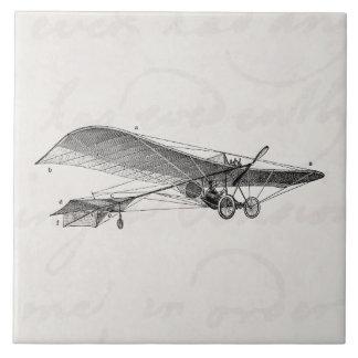 Avión retro del apoyo del aeroplano del propulsor  teja cerámica