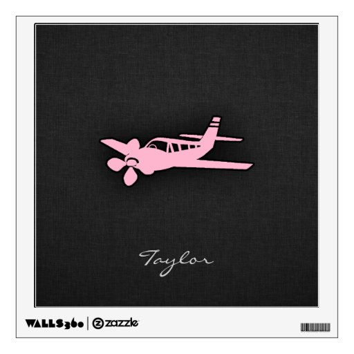 Avión rosa claro