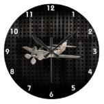 Avión rugoso relojes de pared