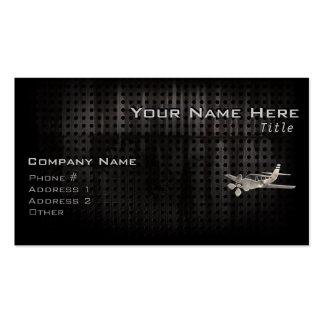 Avión rugoso tarjetas de visita