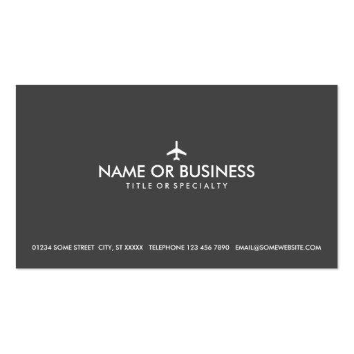 avión simple tarjeta de visita