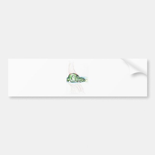 Avión surrealista etiqueta de parachoque