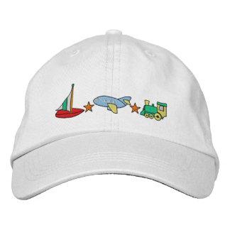 Avión, tren, velero gorra de beisbol bordada