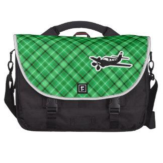 Avión verde bolsas de portatil