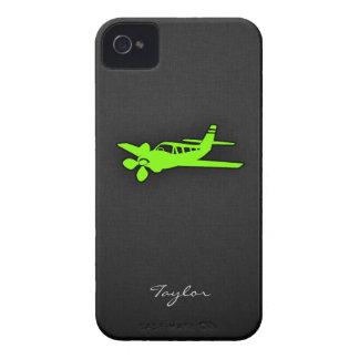 Avión verde chartreuse, de neón carcasa para iPhone 4 de Case-Mate