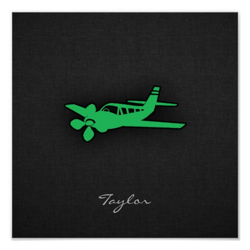 Avión verde de Kelly Posters