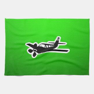 Avión verde toallas de cocina