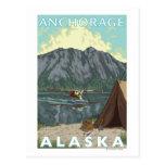 Avión y pesca - Anchorage, Alaska de Bush Tarjeta Postal