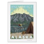 Avión y pesca - Anchorage, Alaska de Bush Tarjetas