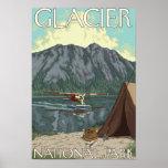 Avión y pesca - Parque Nacional Glacier, TA de Bus Poster