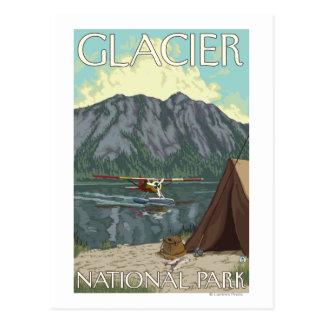 Avión y pesca - Parque Nacional Glacier, TA de Tarjetas Postales
