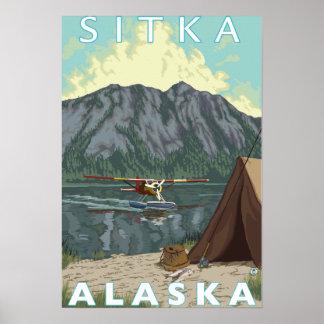 Avión y pesca - Sitka Alaska de Bush Posters